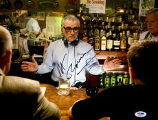 "Martin Scorsese Autographed 11"" x 14"" The Departed Directing In Front Of Bar Photograph - PSA/DNA COA"