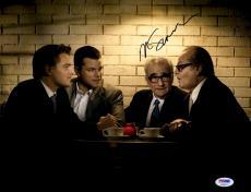 "Martin Scorsese Autographed 11"" x 14"" The Departed Sitting With Matt Damon, Jack Nicholson, And Leonardo DiCaprio Photograph- PSA/DNA COA"