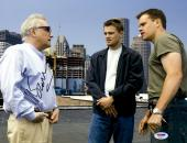 "Martin Scorsese Autographed 11"" x 14"" The Departed With Matt Damon And Leonardo DiCaprio Photograph- PSA/DNA COA"