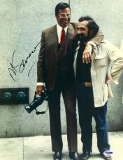 """Martin Scorsese Autographed 11"""" x 14"""" The King Of Comedy With Jerry Lewis  Photograph - PSA/DNA COA"""