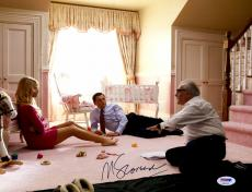 """Martin Scorsese Autographed 11"""" x 14"""" The Wolf Of Wall Street With Leonardo DiCaprio And Margot Robbie Photograph - PSA/DNA COA"""