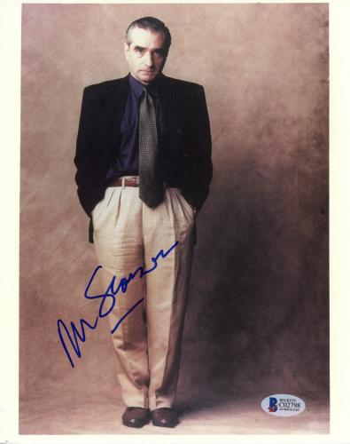 "Martin Scorsese Autographed 8""x 10"" Wearing Black Jacket Hands In Pocket Photograph - Beckett COA"