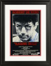 "Martin Scorsese Framed Autographed 11"" x 17"" Raging Bull Movie Poster - PSA/DNA COA"