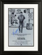 """Martin Scorsese Framed Autographed 11"""" x 17"""" Taxi Driver Movie Poster in Black & White- PSA/DNA COA"""