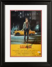 "Martin Scorsese Framed Autographed 11"" x 17"" Taxi Driver Movie Poster - PSA/DNA COA"