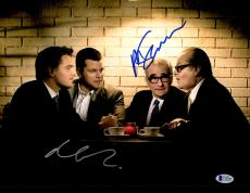 "Martin Scorsese & Matt Damon Autographed 11"" x 14"" The Departed Sitting With Jack Nicholson & Leonardo DiCaprio Photograph- BAS COA"