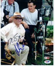 Martin Scorsese Matt Damon signed 8x10 photo The Departed PSA/DNA autograph