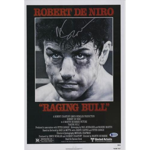"""Martin Scorsese Raging Bull Autographed 12"""" x 18"""" Movie Poster - BAS"""