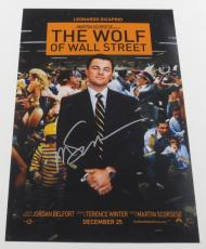 Martin Scorsese Signed 12x18 Photo The Wolf Of Wall Street Movie Poster Auto Coa