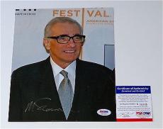 Martin Scorsese Signed 8x10 Photo Psa Coa K38345