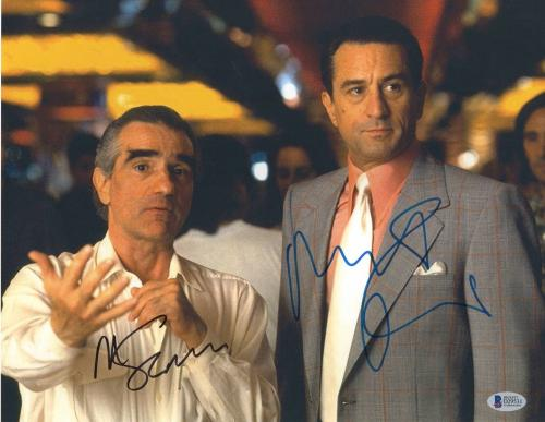 Robert Deniro Martin Scorsese Signed Auto Casino 11x14 Photo Bas Beckett Coa