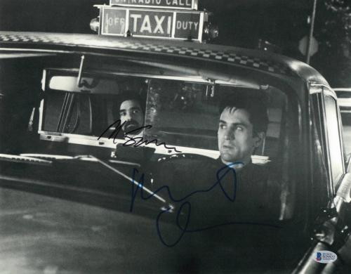 Robert Deniro Martin Scorsese Signed Auto Taxi Driver 11x14 Photo Bas Beckett 2