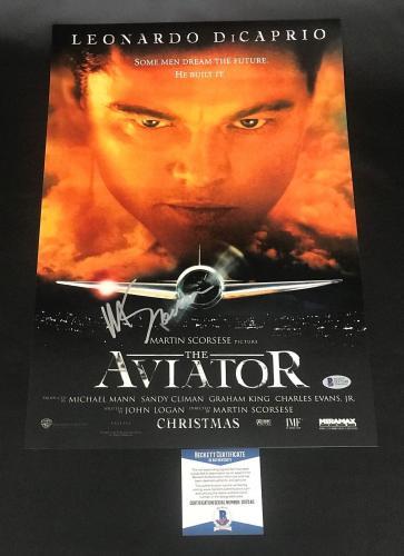 Martin Scorsese Signed Auto The Aviator 12x18 Beckett Bas Coa 3