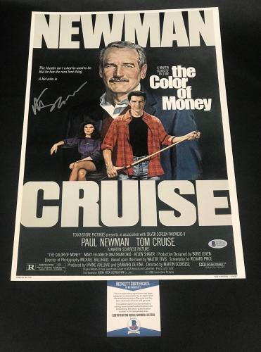 Martin Scorsese Signed Auto The Color Of Money 12x18 Beckett Bas Coa 7
