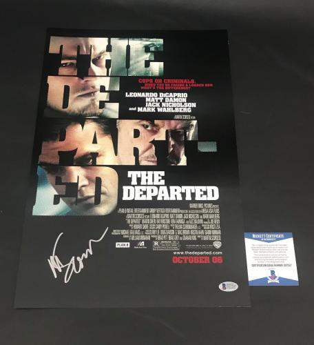 Martin Scorsese Signed Auto The Departed 12x18 Beckett Bas Coa 13