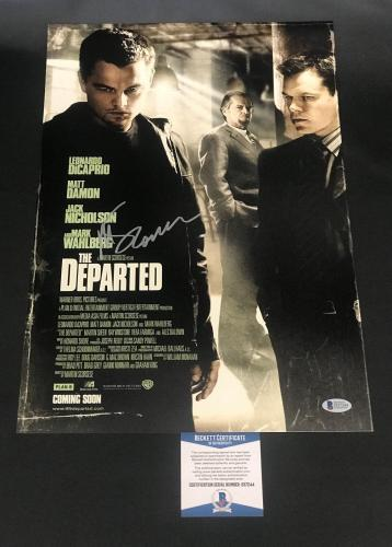 Martin Scorsese Signed Auto The Departed 12x18 Beckett Bas Coa 5