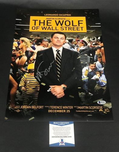 Martin Scorsese Signed Auto The Wolf Of Wall Street 12x18 Beckett Bas Coa 25