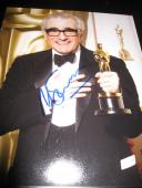 Oscar Signed Photo - MARTIN SCORSESE 8x10 TROPHY PROMO IN PERSON COA D