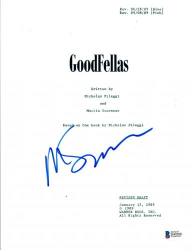 Martin Scorsese Signed Autograph GOODFELLAS Movie Script Beckett BAS COA