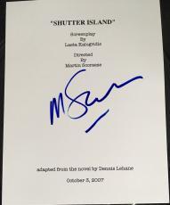 """Martin Scorsese Signed Autograph Rare """"shutter Island"""" Complete Movie Script Coa"""