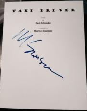 "Martin Scorsese Signed Autograph ""taxi Driver"" Full Rare Movie Script With Coa"