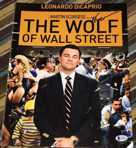 MARTIN SCORSESE SIGNED AUTOGRAPH WOLF OF WALL STREET POSTER 11x14 PHOTO BECKETT