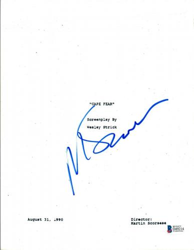 Martin Scorsese Signed Autographed CAPE FEAR Movie Script Beckett BAS COA