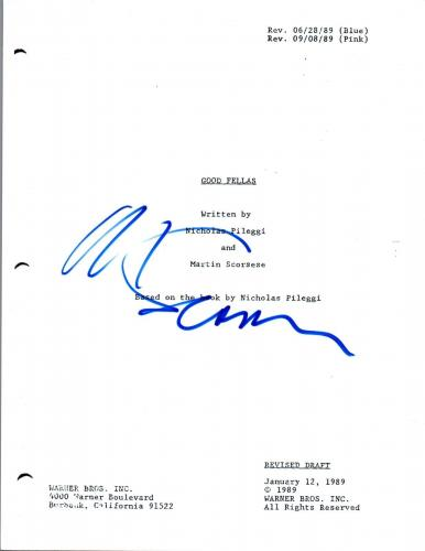 Martin Scorsese Signed Autographed GOODFELLAS Movie Script COA VD