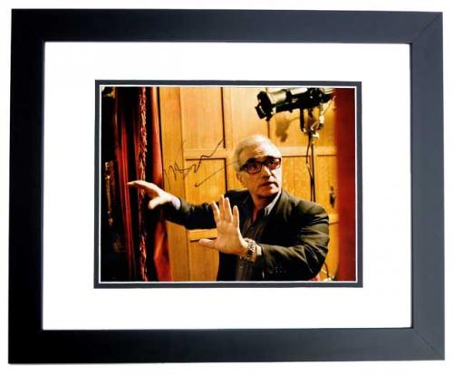 Martin Scorsese Signed - Autographed Legendary Director 11x14 inch Photo BLACK CUSTOM FRAME - Guaranteed to pass PSA or JSA
