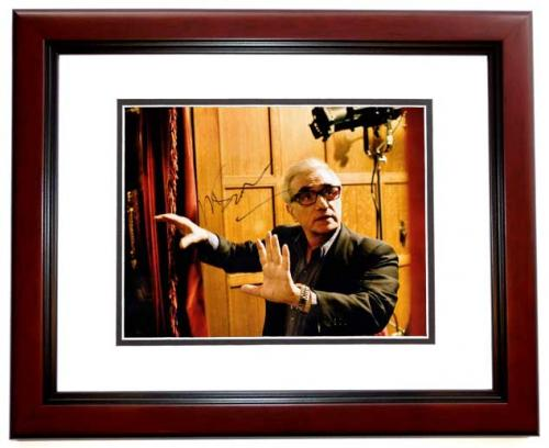 Martin Scorsese Signed - Autographed Legendary Director 11x14 inch Photo MAHOGANY CUSTOM FRAME - Guaranteed to pass PSA or JSA