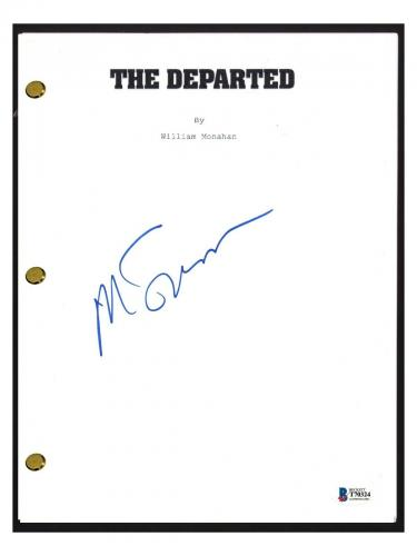 Martin Scorsese Signed Autographed THE DEPARTED Movie Script Beckett BAS COA