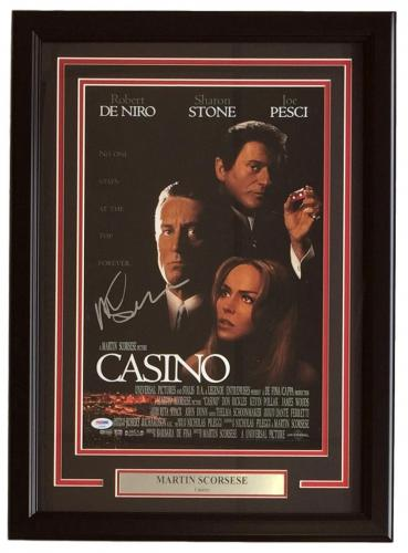 Martin Scorsese Signed Framed 11x17 Casino Movie Photo PSA AD83945