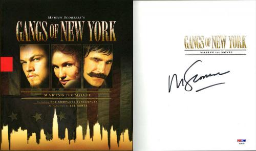 Martin Scorsese SIGNED Gangs of New York SC 1st Ed 1st Print PSA/DNA AUTOGRAPHED