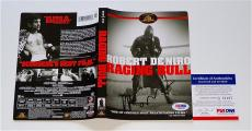 Martin Scorsese Signed Raging Bull Dvd Cover Psa Coa Q56187