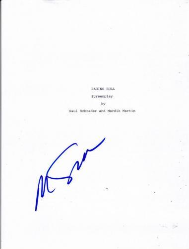 Martin Scorsese Signed Raging Bull Full 106 Page Script Psa Coa