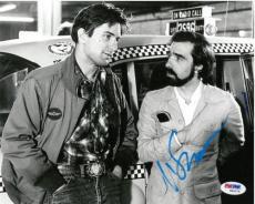 Martin Scorsese w/ Deniro Signed Taxi Driver Auto 8x10 Photo PSA/DNA #W94575