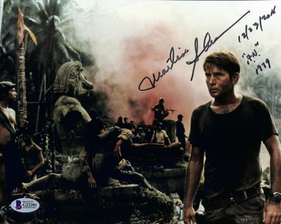 "Martin Sheen Apocalypse Now ""A.N. 1979"" Signed 8x10 Photo BAS #G22201"