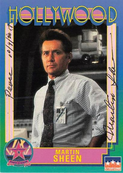 Martin Sheen autographed trading Card (Apocalypse Now Wall Street) 1991 Hollywood Walk of Fame #32
