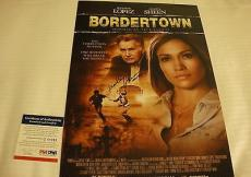 Martin Sheen Bordertown Signed Photo Movie Poster Psa/dna Q60243 Jennifer Lopez