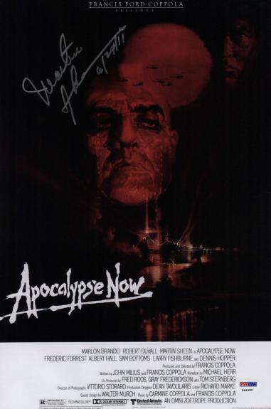 Martin Sheen Signed Apocalypse Now 10x15 Movie Poster Psa Coa P64332