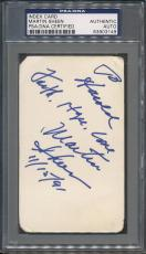 Martin Sheen Signed Index Card PSA/DNA Certified Authentic Auto Autograph *3149