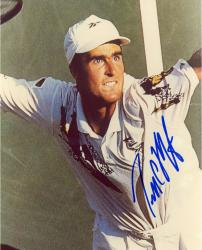 Todd Martin Autographed 8'' x 10'' Swinging Racquet Photograph