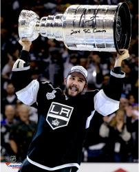 Alec Martinez Los Angeles Kings 2014 Stanley Cup Champions Autographed 16'' x 20'' Stanley Cup Photograph with 2014 SC Champs Inscription - Mounted Memories