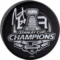 Alec Martinez Los Angeles Kings 2014 Stanley Cup Champions Autographed 2014 Stanley Cup Champs Logo Puck