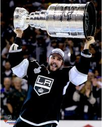 Alec Martinez Los Angeles Kings 2014 Stanley Cup Champions Autographed 16'' x 20'' Raising Stanley Cup Photograph - Mounted Memories