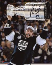Alec Martinez Los Angeles Kings 2014 Stanley Cup Champions Autographed 8'' x 10'' Raising Stanley Cup Photograph - Mounted Memories
