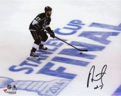 Alec Martinez Los Angeles Kings 2014 Stanley Cup Champions Autographed 8'' x 10'' Stanley Cup Game 1 Over Logo Photograph - Mounted Memories