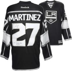 Alec Martinez Los Angeles Kings 2014 Stanley Cup Champions Autographed Black Reebok Jersey with OT Winner Inscription - Mounted Memories