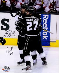 Alec Martinez & Dustin Brown Los Angeles Kings 2014 Stanley Cup Champions Autographed 16'' x 20'' Photograph - Mounted Memories