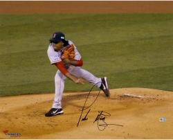 "Pedro Martinez Boston Red Sox Autographed 16"" x 20"" Horizontal Pitch Photograph"